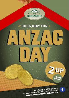 ANZAC day at the Donny!